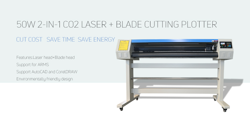 2in1 laser cutting plotter machine
